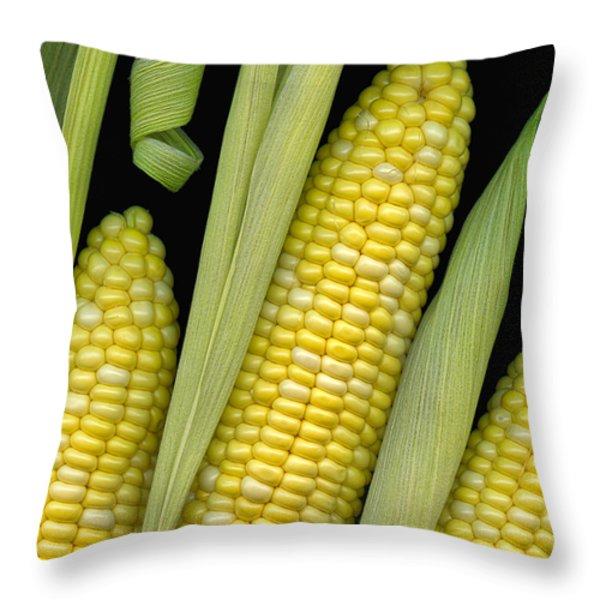 Corn On The Cob I Throw Pillow by Tom Mc Nemar