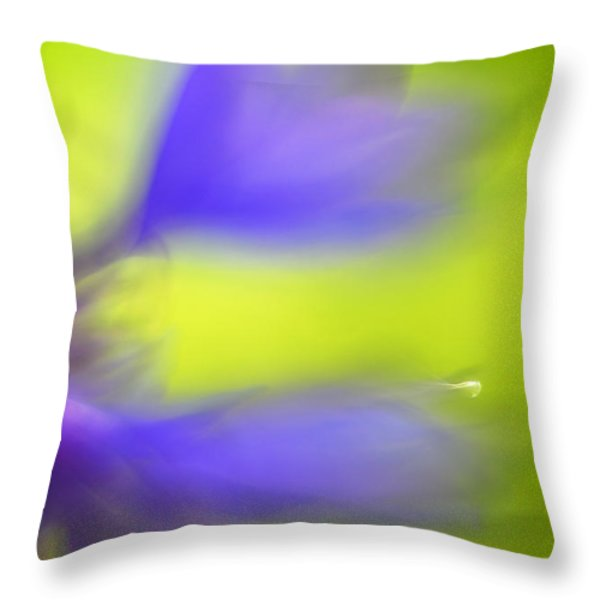 Cornflower Throw Pillow by Silke Magino