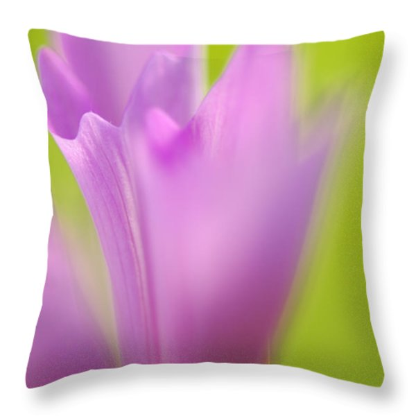 Cosmea Throw Pillow by Silke Magino