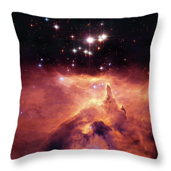 Cosmic Cave Throw Pillow by The  Vault - Jennifer Rondinelli Reilly