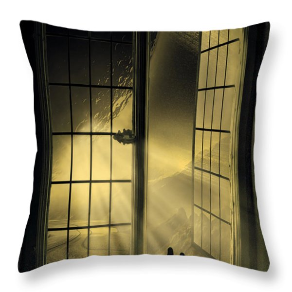 Cosmic Rays Throw Pillow by Svetlana Sewell