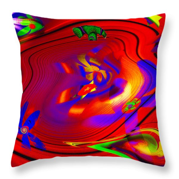 Cosmic Soup Throw Pillow by Bill Cannon