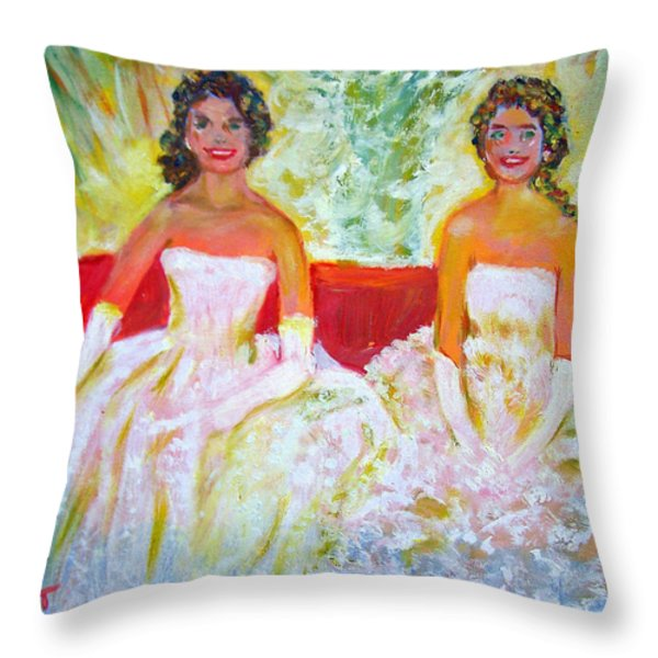 Cotillion Throw Pillow by Patricia Taylor