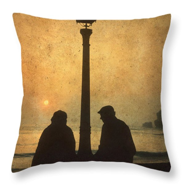 Couple Throw Pillow by BERNARD JAUBERT