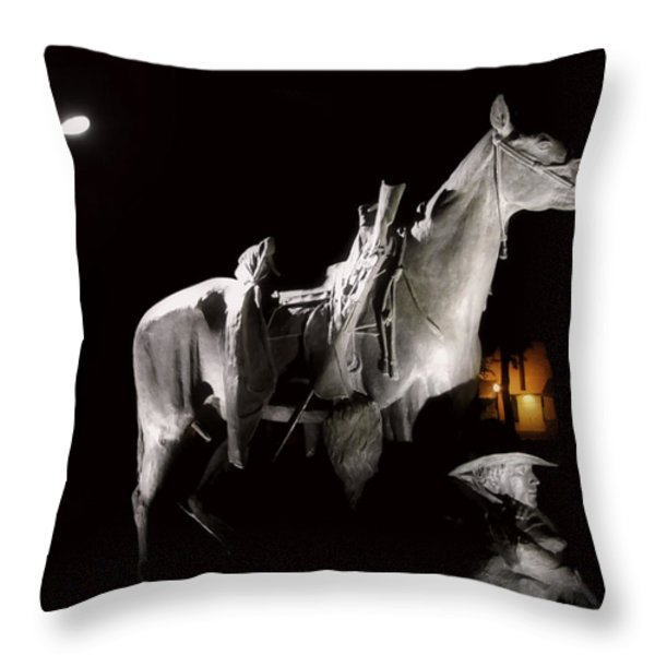Cowboy at Rest Throw Pillow by Christine Till