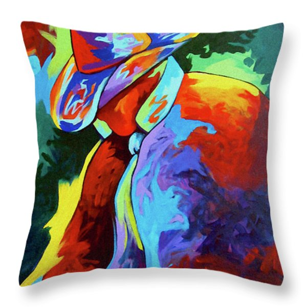 Cowboy Who Throw Pillow by Lance Headlee