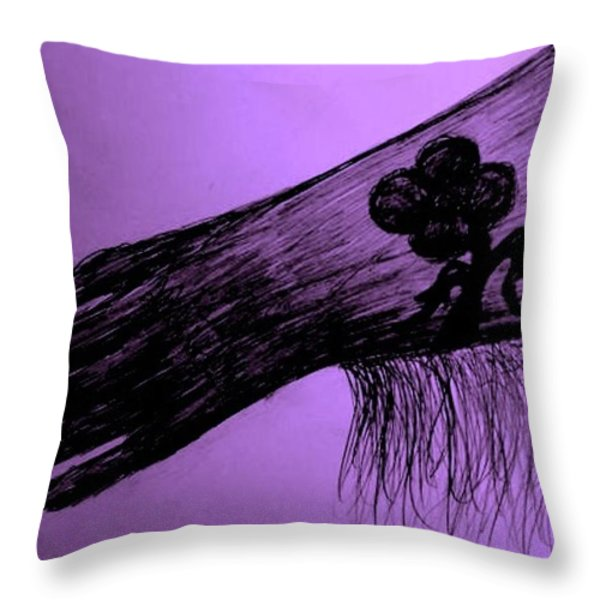 COWGIRL GLOVE PLUM CLASSY Throw Pillow by Susan Gahr
