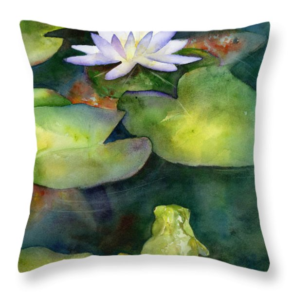 Coy Koi Throw Pillow by Amy Kirkpatrick