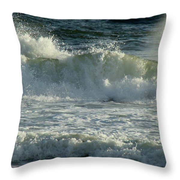 Crashing Wave Throw Pillow by Sandy Keeton