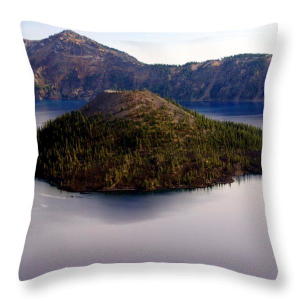 Crater Lake 1 Throw Pillow by Marty Koch