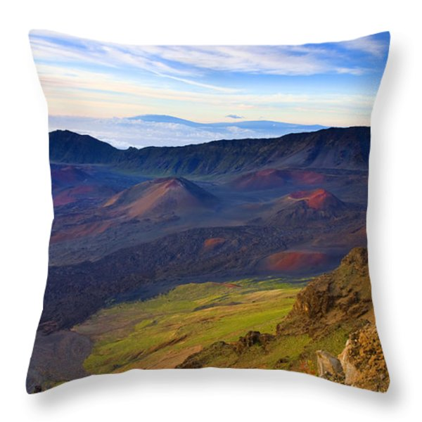 Craters Of Paradise Throw Pillow by Mike  Dawson