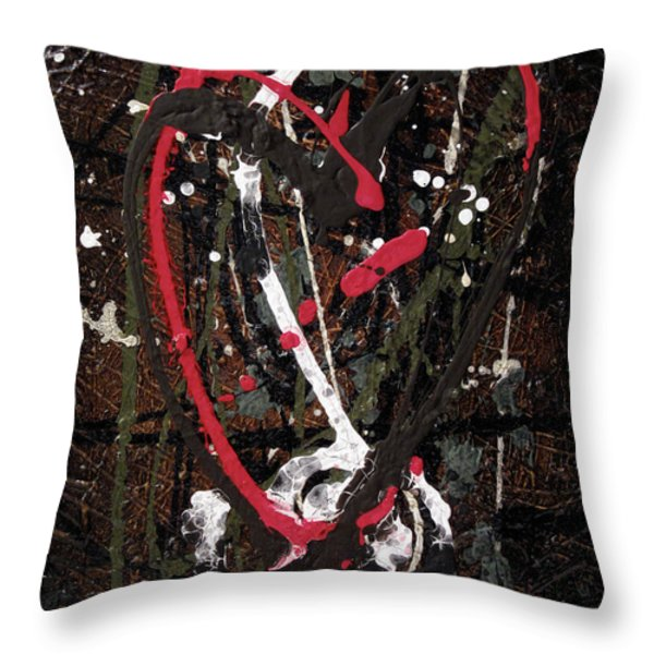 Crazy Love Throw Pillow by Jill English