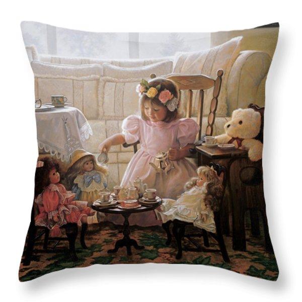 Cream And Sugar Throw Pillow by Greg Olsen