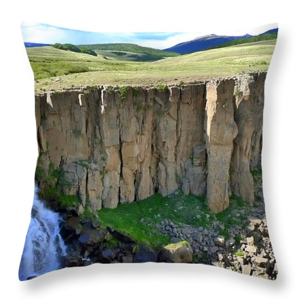 Creation Throw Pillow by Skip Hunt