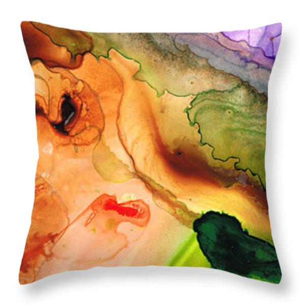 Creation's Embrace Throw Pillow by Sharon Cummings