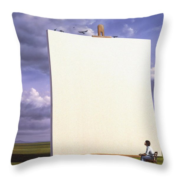 Creative problems Throw Pillow by Jerry LoFaro