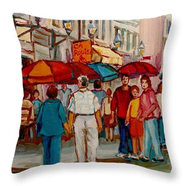 Creme De La Creme Cafe Throw Pillow by Carole Spandau