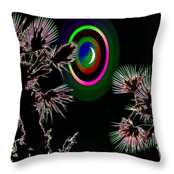 Crescent And Palms 3 Throw Pillow by Tim Allen