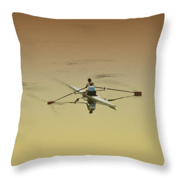 Crew Throw Pillow by Bill Cannon