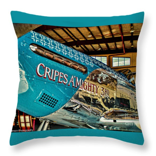 Cripes Almighty Throw Pillow by Tommy Anderson