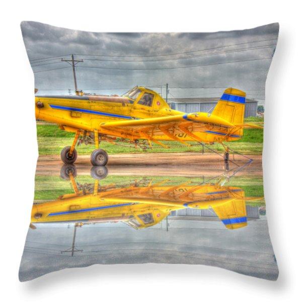 Crop Duster 002 Throw Pillow by Barry Jones