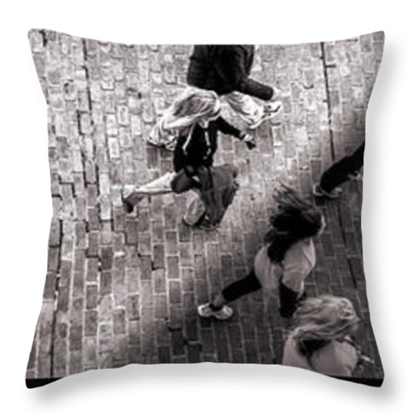 Crossing The Shadow Line Throw Pillow by Bob Orsillo