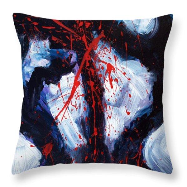 Crucified Throw Pillow by Lidija Ivanek - SiLa