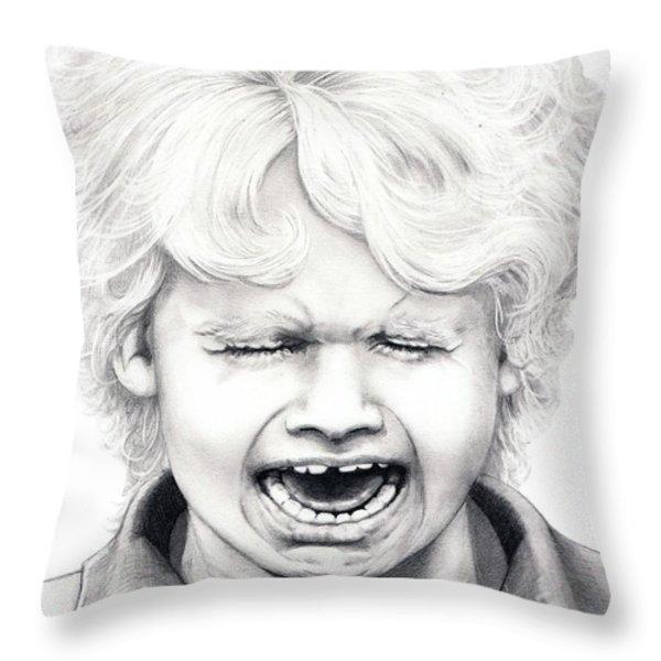 Cry Baby Throw Pillow by Murphy Elliott