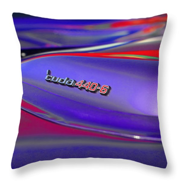 'Cuda 440-6 Throw Pillow by Gordon Dean II