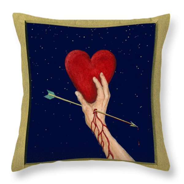 Cupids Arrow Throw Pillow by Charles Harden