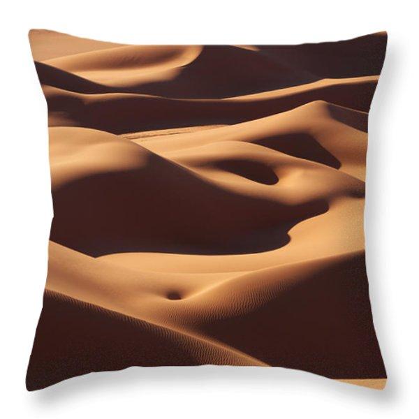 Curves Throw Pillow by Ivan Slosar