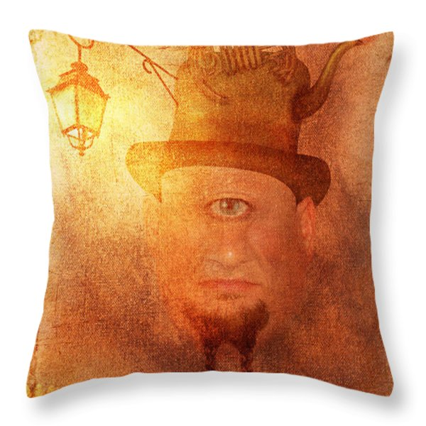Cyclops Throw Pillow by Arvydas Butautas