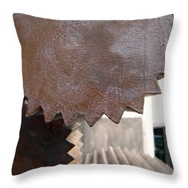 Cylindrical Gears Throw Pillow by Yali Shi