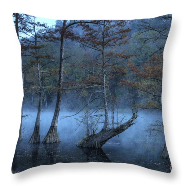 Cypress Awakening Throw Pillow by Tamyra Ayles