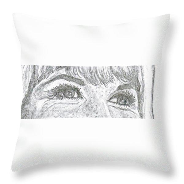 D D Eyes Throw Pillow by Carol Wisniewski