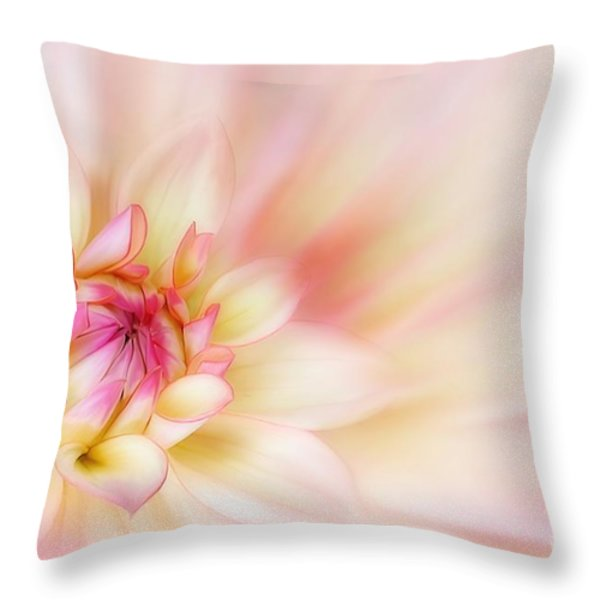 Dahlia Throw Pillow by John Edwards