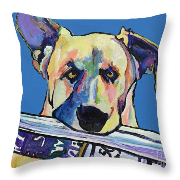 Daily Duty Throw Pillow by Pat Saunders-White