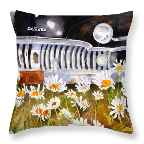 Daisy DeSoto Throw Pillow by Suzy Pal Powell