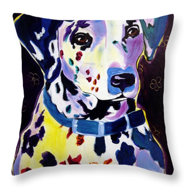 Dalmatian - Dottie Throw Pillow by Alicia VanNoy Call