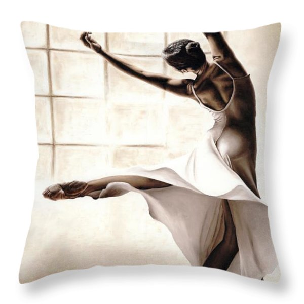 Dance Finesse Throw Pillow by Richard Young