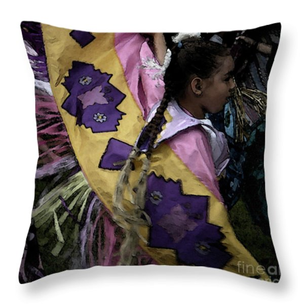 Dance Throw Pillow by Linda Knorr Shafer