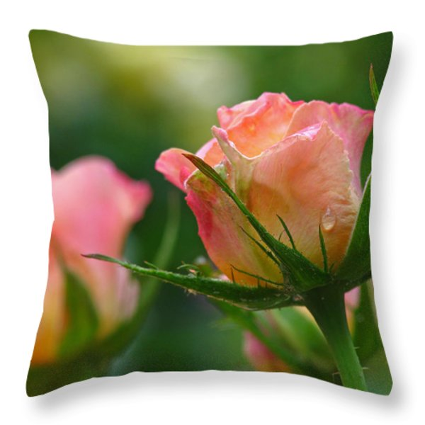 Dance Your Bud Off Throw Pillow by Juergen Roth