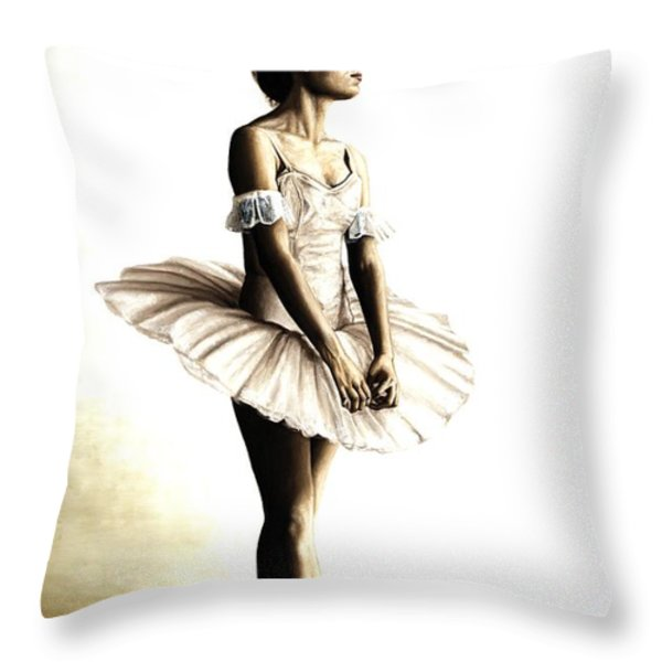 Dancer At Peace Throw Pillow by Richard Young