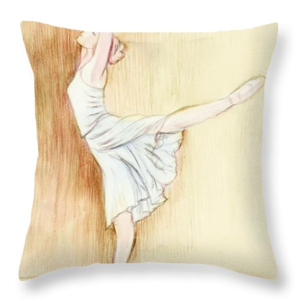 Dancer Throw Pillow by Morgan Fitzsimons