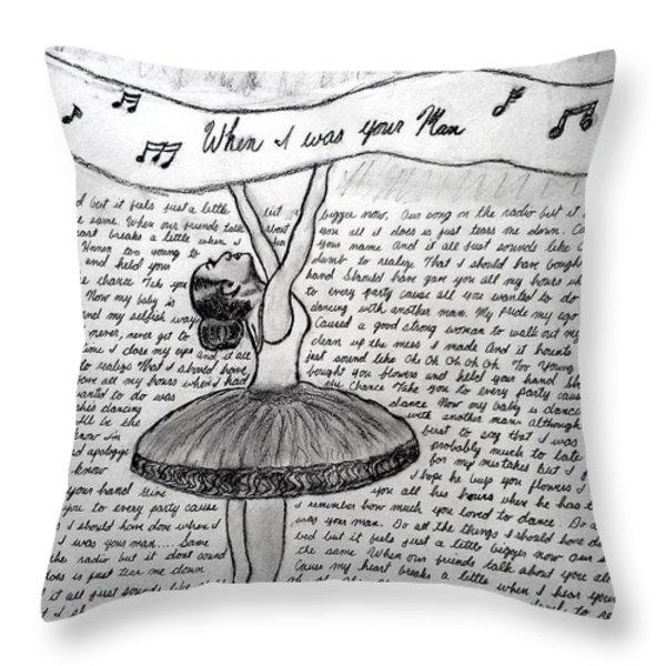 Dancing Lyrics Throw Pillow by Chenee Reyes