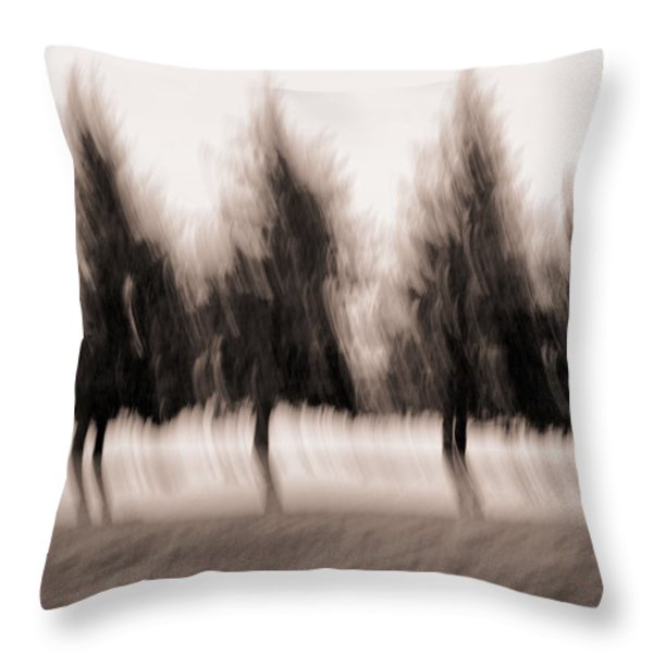 Dancing Pines Throw Pillow by Carol Leigh