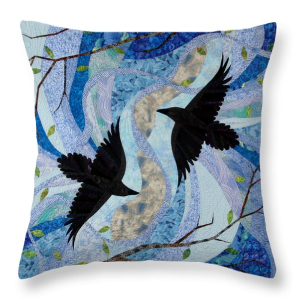 Dancing With The Chinook Throw Pillow by Linda Beach