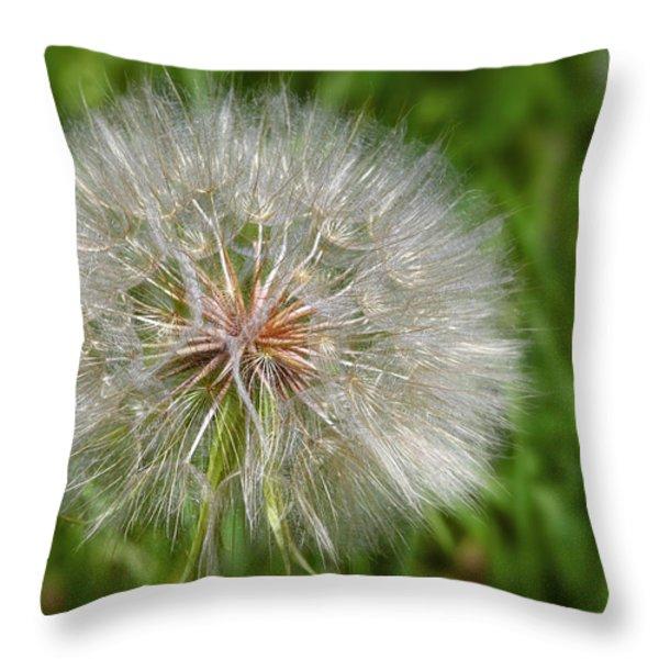 Dandelion Puff - The Summer Queen Throw Pillow by Christine Till