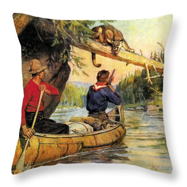 Dangerous Encounter Throw Pillow by JQ Licensing
