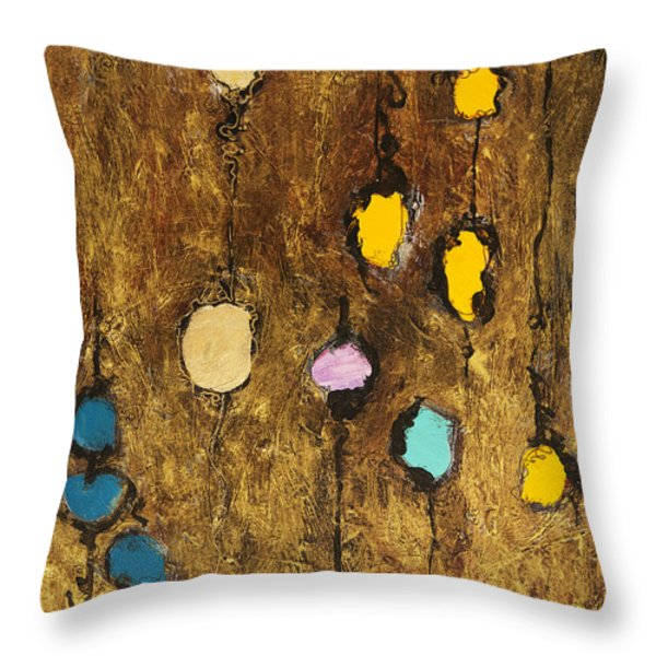 Dangling Blossoms Throw Pillow by Tara Thelen